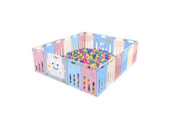 ABST 20 Panel Baby Safety Gate Playpen Toddler Fence Barrier Elephant Design