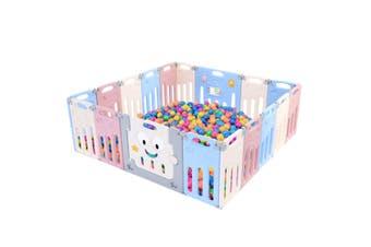 ABST 18 Panel Baby Safety Gate Playpen Toddler Fence Barrier Elephant Design