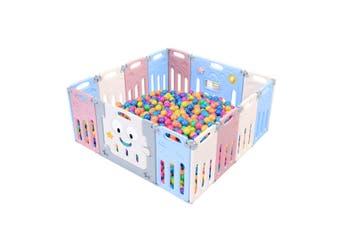 ABST 14 Panel Baby Safety Gate Playpen Toddler Fence Barrier Elephant Design