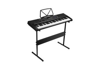 Melodic 61-Lighted Keys Electronic Piano Keyboard USB Port 50 Demo Songs Music Stand