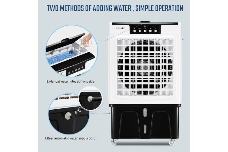 Maxkon 45L Industrial Evaporative Air Cooler Remote Portable Air Conditioner Fan Humidifier