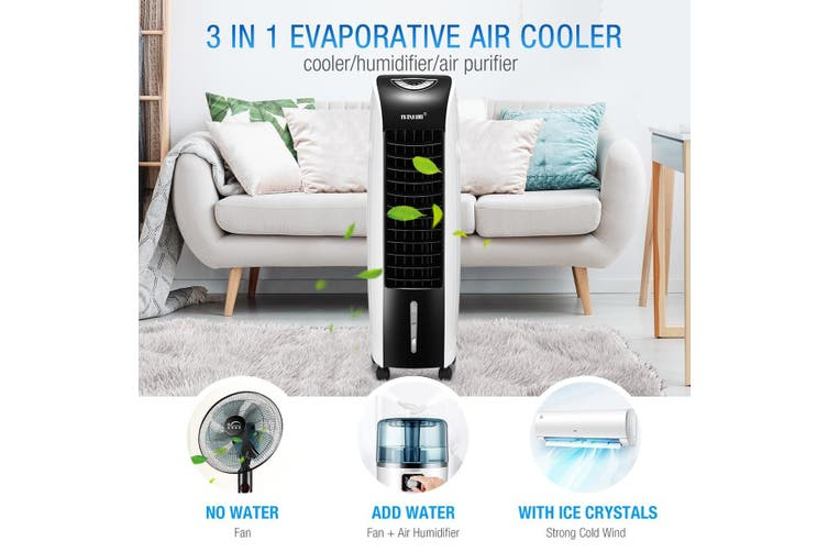 Maxkon 3 In 1 Portable Evaporative Air Cooler Purifier Remote Air Humidifier