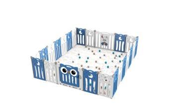 Kidbot 24 Panel Baby Safety Gate Baby Playpen Fence Child Gate Enclosure Owl Design