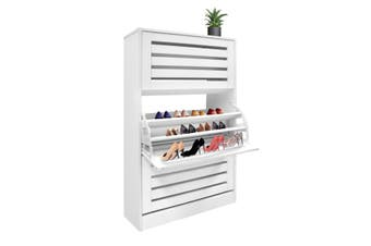 45 Pair Wood Shoe Storage Cabinet 3 Door Shoe Organizer Rack