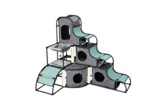 Petscene Multi-Tier Cat Tower Kit Scratching Post Cat Tree Cat Furniture Scratcher Condo House