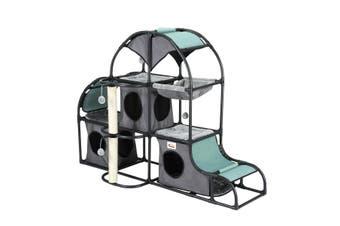 Petscene Multi-Tier Cat Scratching Post Tower Furniture Cat Tree House Scratcher Condo
