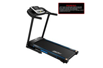 Genki 2HP Treadmill Home Gym Equipment Foldable Running Exercise Machine 430mm Belt