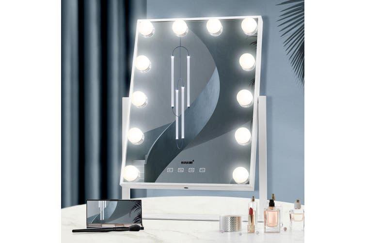 Maxkon 12 Led Lighted Makeup Mirror, Led Makeup Mirror Vanity