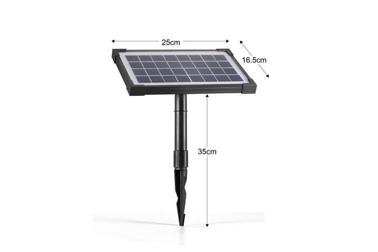 Solar Power Fountain Water Pump Kit Water Display with Timer & LED Lights   3.5w