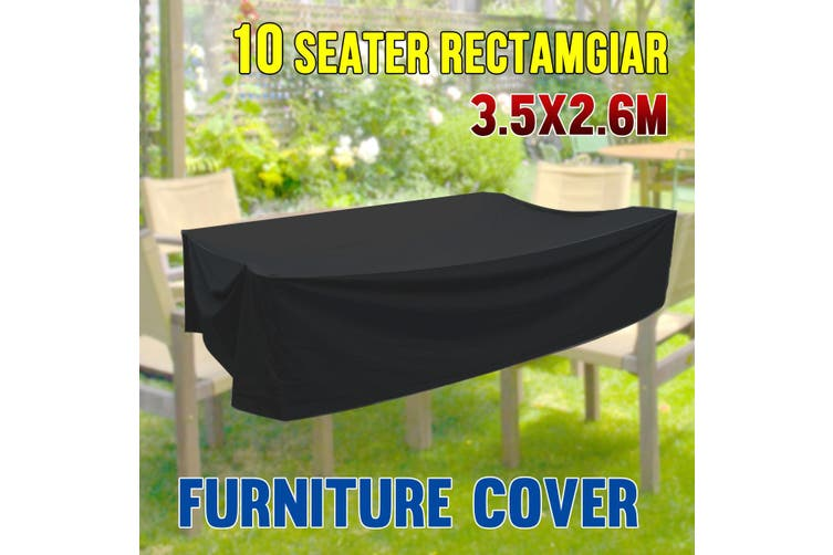 PVC Coated Polyester Waterproof Outdoor Furniture Cover 10 Seater   3.5m x 2.6m x 0.9m