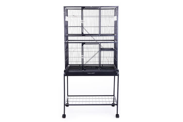 Large Space Cage on Wheels for Birds Parrot