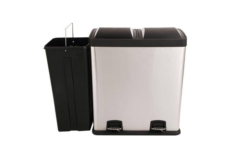 Dual Pedal Rubbish Bin Trash Can 60L