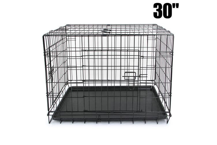 30 inch  Dog Crate Cage with 2 Doors