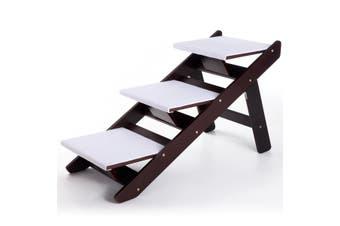 Lightweight Foldable Dog 3 Step Stairs Ramp