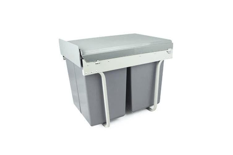 Rubbish Bin Kitchen Waste Trash 2x20L