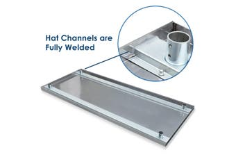 NSF Certified Stainless Steel Commercial or Home Kitchen Prep & Work Table with Under Shelf 152cm x 61cm
