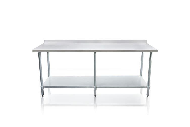 Galvanized Steel 244cm x 61cm Kitchen Workbench and Food Prep Table