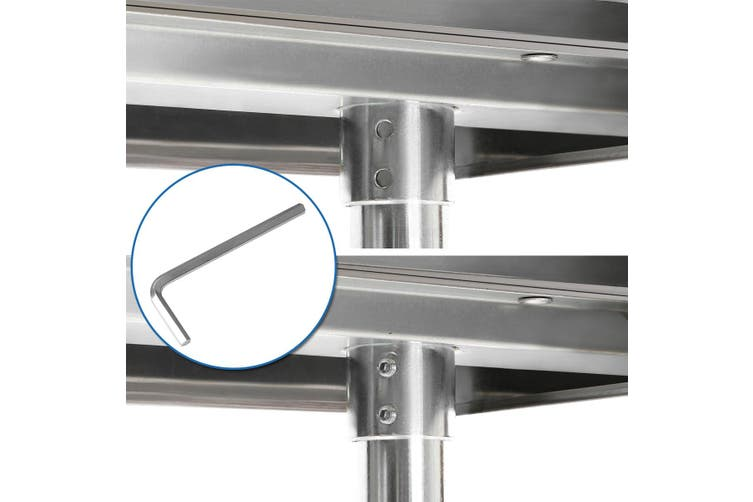 NSF Certified Stainless Steel Commercial or Home Kitchen Prep & Work Table with Under Shelf 244cm x 76cm