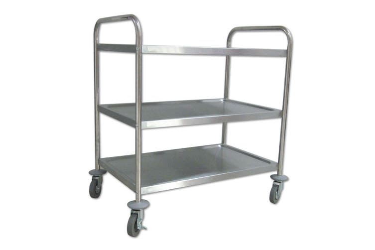 Kitchen Cart Dishes Trolley Storage Shelf with Wheels