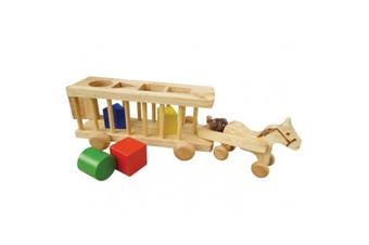 Wooden Sorting Horse Cart