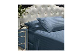 Royal Comfort Sheet Set Ultra Soft Sateen Bedding Queen - Pewter