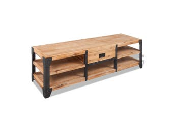 TV Stand Solid Acacia Wood 140 x 40 x 45 Cm