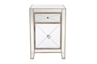 Apolo Bedside Table Antique Gold
