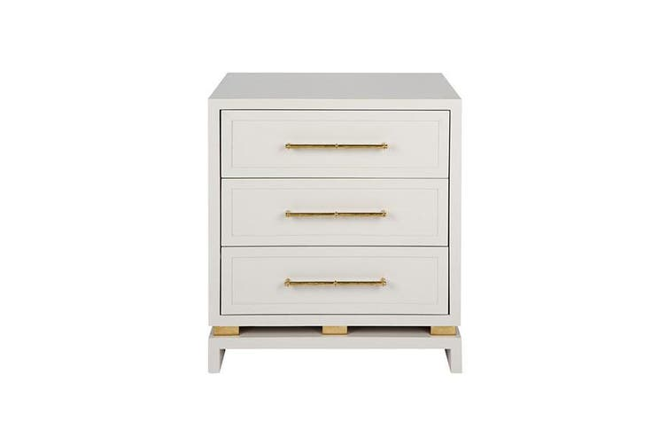 Pearl Bedside Table Grey