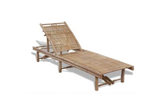 Sunlounger Bamboo Adjustable