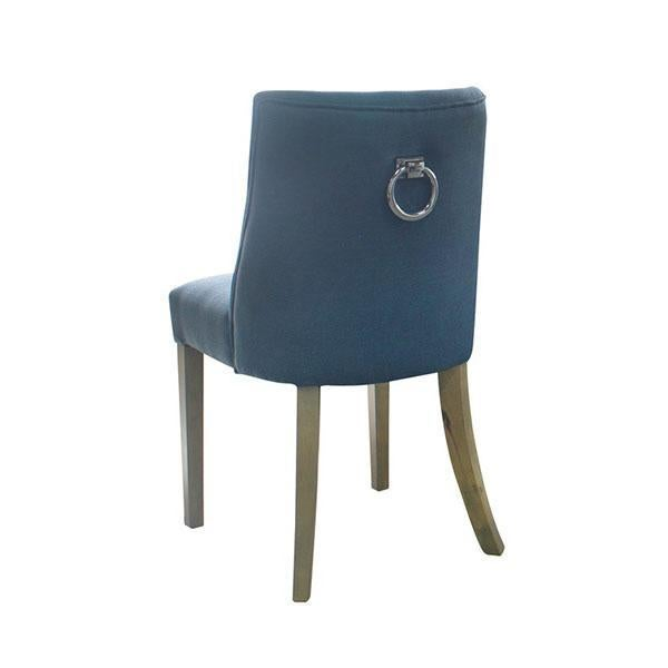 Picture of: 2 Ophelia Dining Chair Blue Silver Ring Wood Legs Kogan Com