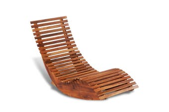 Acacia Wood Rocking Sun Lounger
