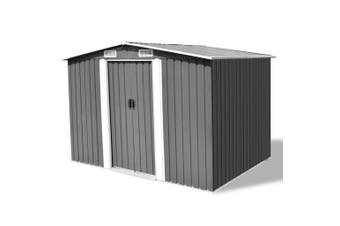 Metal Garden Storage Shed - Grey