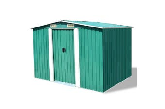 Metal Garden Storage Shed - Green