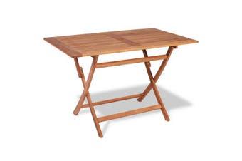 Folding Garden Table 120X70X75 Cm Solid Teak Wood