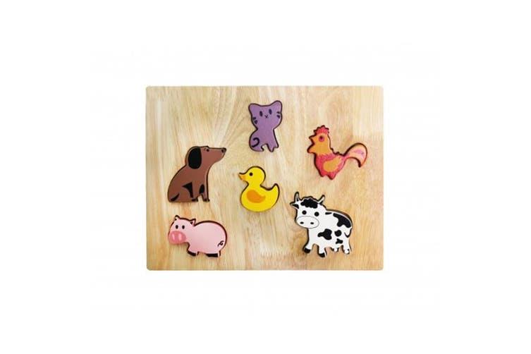 Farm Animal Play Set & Puzzle