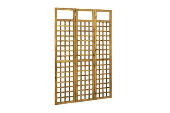 3 Panel Room Divider Trellis Solid Acacia Wood 120X170 Cm
