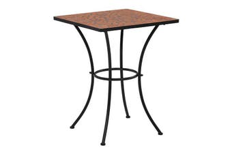 Mosaic Bistro Table 60 Cm Ceramic - Black and white