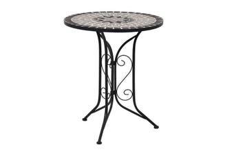 Mosaic Bistro Table Grey 61Cm Ceramic