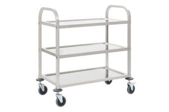 3 Tier Kitchen Trolley 107X55 Cm Stainless Steel