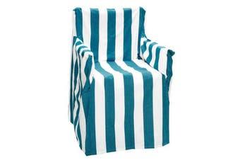 Alfresco Director Chair Cover - Stripe - Cobalt Blue