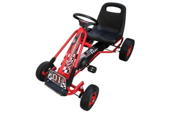 Pedal Go Kart with Adjustable Seat - Red