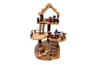Natural Wooden Large Tree Doll House