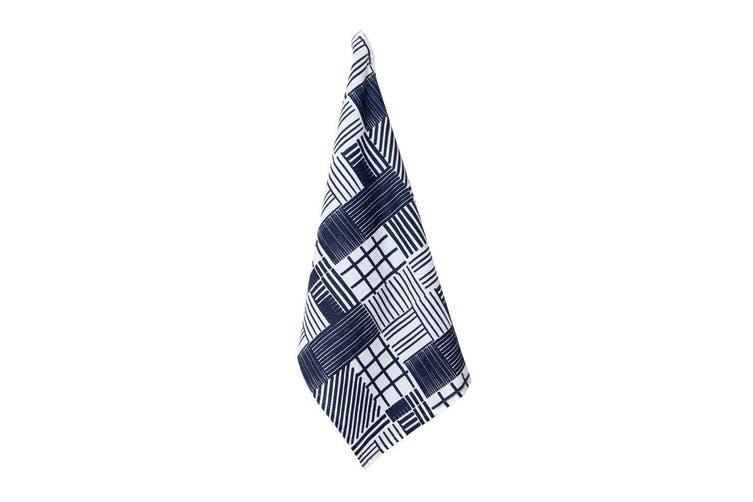 Rue Linen Tea Towel 50x70cm Indigo