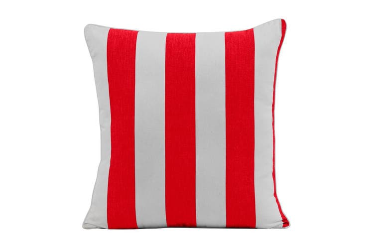 Outdoor Stripe Cushion 45x45cm Red