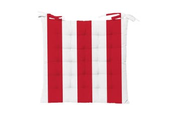 Outdoor Stripe Chair Pad 40x40cm Red