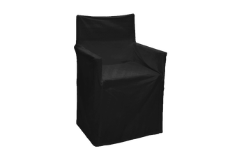 Outdoor Solid Director Chair Cover Std Black