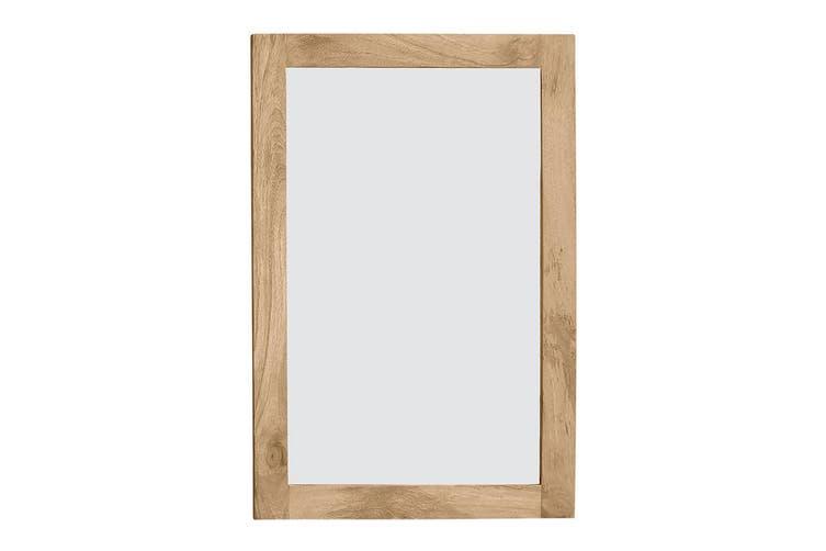 Newhalen Wooden Frame Mirror 90x2.5x60cm Natural