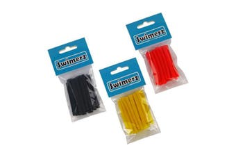 Swimerz Assist Hook Sleeves Shrink Tube Black Yellow And Red 50 Mm