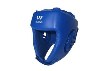 Wesing Aiba Approved Leather Head Guard Medium - Blue