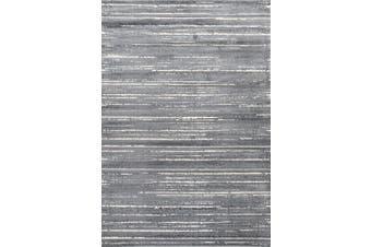 AquaSilk Grey Stripes Silk Design Rug - 200x290